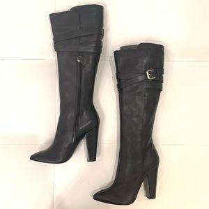 GIUSEPPE ZANOTTI Knee High Buckle Boots Sz 40